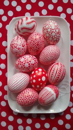 Yayoi Kusama kids easter eggs!