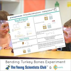 Homeschool Science: DIY Bending Turkey Bones Experiment - Free Download Guide! from sponsor @educents -- limited time offer!