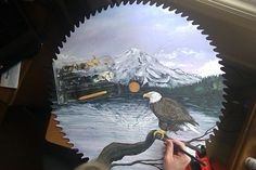 saw blade painting by me