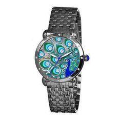 Women's Genevieve Peacock Crystal Dial Stainless Steel Watch $159.28 www.allthingspeacock.com