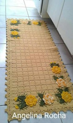 Tapetes Thread Crochet, Crochet Top, Crochet Doily Rug, Diy Crochet, Crochet Stitches, Doily Patterns, Crochet Patterns, Yarn Crafts, Diy Crafts