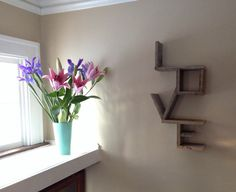 Love shelf crafted from reclaimed pallet wood by Papsrepurposing, $30.00