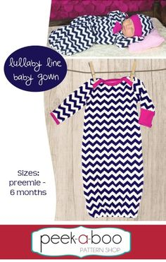 Peek-a-Boo Pattern Shop - Lullaby Line Baby Gown