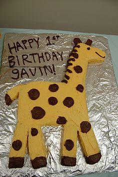 Wine and Glue: Birthday Retrospective Part 1: A Very Giraffey Birthday #giraffe #cake
