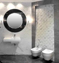 Płytki, gres, mozaika design okrągłe lustro