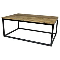 Channelling industrial style, this metal and wooden coffee table is a great way to display your style credentials. Arrange a floral display and your favourit...