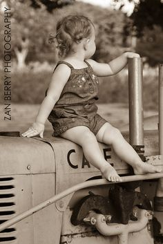 Girl on Tractor, I love this and want to be able for my children to grow to love it too!