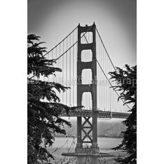 Golden Gate Bridge Photo Fine Art Photography San Francisco Bay... (12 CAD) ❤ liked on Polyvore featuring home and home decor