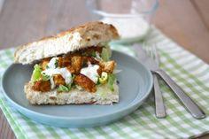Turks brood met kipshoarma en tzatziki