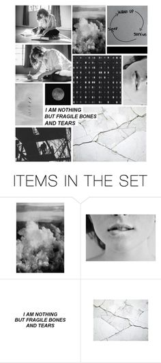 """""""six billion pieces waiting to be fixed."""" by elle-of-roses ❤ liked on Polyvore featuring art"""