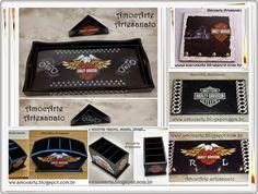 Harley-Davidson com detalhe em relevo - mdf madeira http://www.amocarte.blogspot.com.br/