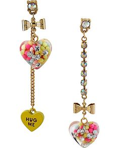 HEART CANDY MISMATCH EARRING MULTI accessories jewelry earrings fashion