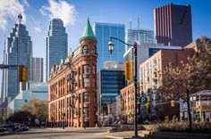 Toronto's Gooderham Building by John Cavacas Photography. An iconic landmark of Toronto, viewed on a crisp February morning