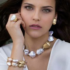Advanced Custom Baroque Shaped Pearl Necklace Natural Extra Large Grained Edison Pearl Bracelet Bracelet - Taobao