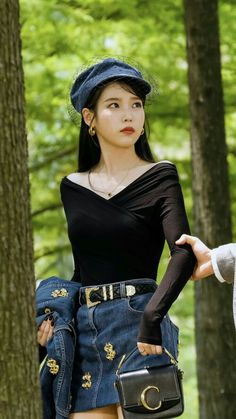From Audrey Hepburn looks, to Chanel leather coats, to Denim ensembles, you will surely love IU's killer styles in spite of her devilish attitude in Hotel del Luna. Shop the entire look here Luna Fashion, Kpop Fashion, Denim Fashion, Korean Fashion, Fashion Outfits, Korean Airport Fashion, Kpop Outfits, Korean Outfits, Korean Girl