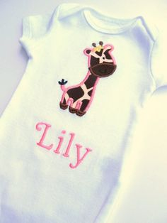 Hey, I found this really awesome Etsy listing at https://www.etsy.com/listing/105339903/personalized-embroidered-giraffe