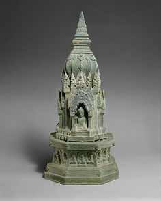 Buddhist Shrine, Khmer, Angkor, 13th c. Bronze