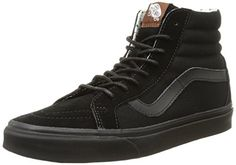 Vans Sk8-Hi Reissue High Top,Black,US 16 M Vans http://www.amazon.com/dp/B00RPMTHKA/ref=cm_sw_r_pi_dp_J2qJwb0QX7PQ1  Aww skate shoe! The best out there! But the biggest Vans make is size 16. Yeah, 16s are pretty big, but I was wearing dese aww Vans in 16s when I was 16-year-old kid a few years ago. Now I got size 18 fins, so theres no chance I can stick my fins into dese sickest Vans. Damn! Wish there made cool Vans skate kicks in 18s-19s! Nick.