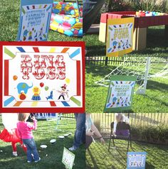 Carnival Circus Birthday Party Signs Games Printable DIY Large Yard Signs (digital version) PDF (29 Signs included)
