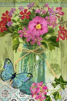 Mason Jar Bouquet ~ Jennifer Brinley