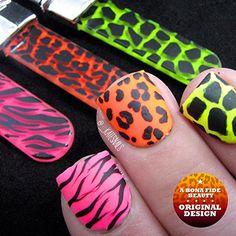 Glass Nail Files, Bona Fide Beauty Crystal Neon Animal Print Glass Nail File, Giraffe, Sunglasses Case, Neon, Animal, Crystals, Nails, Prints, Beauty
