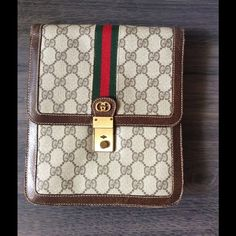 Selling this  Vintage Gucci Lock Logo Cosmetic Bag in my Poshmark closet! My username is: saccardi. #shopmycloset #poshmark #fashion #shopping #style #forsale #Gucci #Handbags