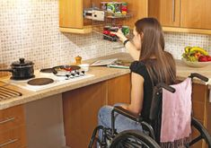 Handicap home modifications contractor in Harrisburg and Hershey PA. Alone Eagle Remodeling LLC specializes in helping homeowners make their homes wheelchair and handicap friendly. Kitchen Stove, Kitchen Cabinets, Mobile Home Bathrooms, Inside Cabinets, Washing Dishes, Food Preparation, Disability, Kitchen Design, Kitchen Ideas