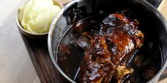 Tom Aikens shares his slow cooked lamb shoulder recipe. The braised lamb is truly gorgeous to recreate and regularly appears on Tom's menu, served with mash. Braised Lamb Shoulder, Shoulder Roast, Lamb Shoulder Slow Cooker, Lamb Shoulder Chops, Lamb Shanks, Lamb Chops, Slow Cooker Recipes, Cooking Recipes, Slow Cooking