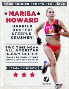 Marisa Howard. Steeple crusher! #Rule40 campaign approved.
