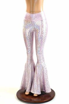 Pink Mermaid Bell Bottoms - Coquetry Clothing
