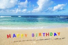 Happy Birthday On The Beach Art Print by Elena Chukhlebova. All prints are professionally printed, packaged, and shipped within 3 - 4 business days. Choose from multiple sizes and hundreds of frame and mat options. Happy Birthday Beach Images, Birthday At The Beach, Happy Birthday Flowers Wishes, Happy Birthday Wishes For Her, Happy Birthday Art, Happy Birthday Greetings, Birthday Messages, Birthday Ideas, Kauai