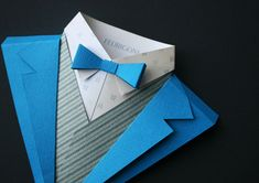 Jonathan Shackleton paper packaging design for Fedrigoni, an Italian paper company. #blue #menswear #paper #fashion