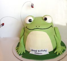 Frog cake.  Kade would love this!