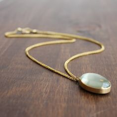 Gabriella Kiss 18k Gold Moonstone Pendant. Available at Meeka Fine Jewelry.