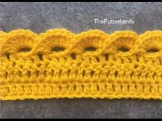 How to Crochet the Edge / Border / Trim Stitch Pattern #45│by ThePatterfamily - YouTube