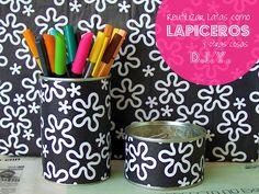 PLATA Y CHOCOLATE: Reciclaje: reutilizar latas como lapiceros