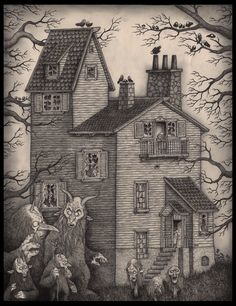 Find images and videos about don kenn, john kenn and john kenn mortensen on We Heart It - the app to get lost in what you love. Monster Drawing, Monster Art, Arte Horror, Horror Art, John Kenn, Illustrations, Illustration Art, Post It Art, Arte Van Gogh