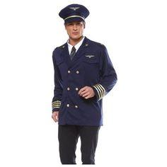 rakutencom adult airline pilot captain mens halloween costume