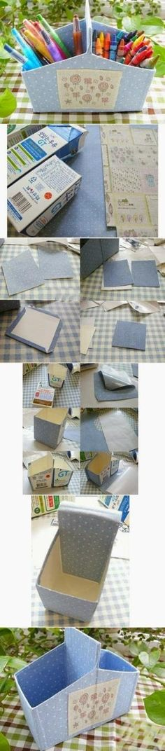 DIY Milk Carton Organizer by Hairstyle Tutorials