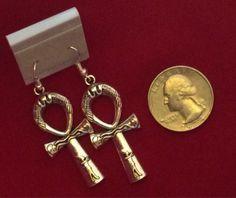 Ankh Earrings by fentonstudios on Etsy