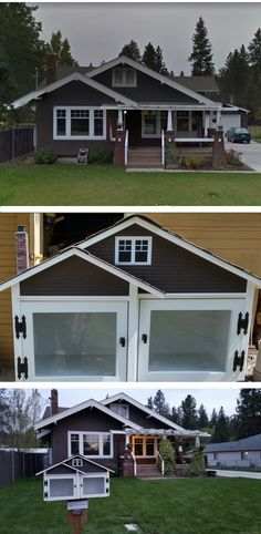 This two door mini-me with its shake siding, chimney and 3D printed windows is an absolute perfect match to the Craftsman home on the 4900 block of E 19th in Spokane, WA. Built by Little Library Builder of Spokane! www.littlelibrarybuilder.com Little Free Libraries, Little Library, Free Library, Shake Siding, Fairy Houses, Perfect Match, Craftsman, Yup, Shed