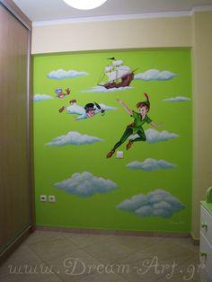 Ζωγραφική παιδικού δωματίου με τον Πήτερ Παν