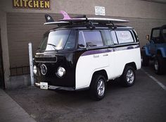 VW mini bus owned by Hodad's, a burger and shake joint in San Diego, California.