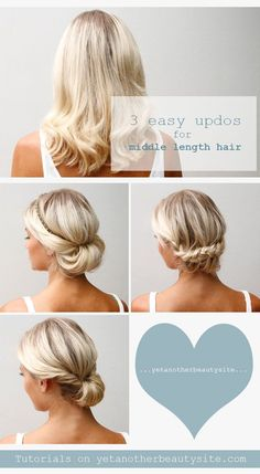 3 Easy Updos for Medium Length Hair