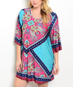 Another great find on #zulily! Jade & Pink Paisley Scarf-Print Dress - Plus #zulilyfinds