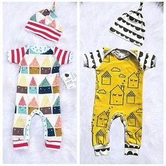Fun and colorful romper - 2 piece set - Bright fun and colorful romper with  matching · Baby Girl ... fc9079fcce86