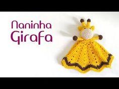 Naninha Girafa amigurumi (crochê) - YouTube Crochet Hooded Scarf, Crochet Lovey, Crochet Baby Toys, Crochet Amigurumi, Amigurumi Doll, Crochet Animals, Baby Blanket Crochet, Crochet For Kids, Baby Knitting