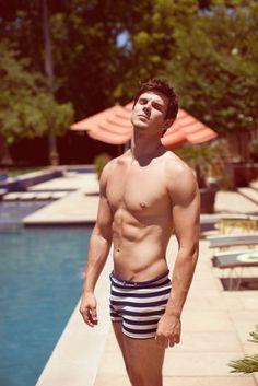 retro swim trunks