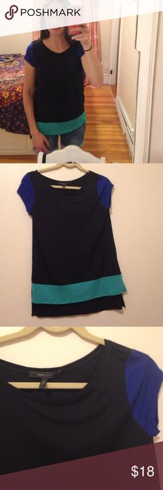 BCBG size S colorblock tshirt This is a really cool tshirt. It looks like something out of the 90s. It's never been worn. Great colors! BCBGMaxAzria Tops Tees - Short Sleeve