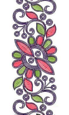 Truely Cording Lace-Border-Brocade Design